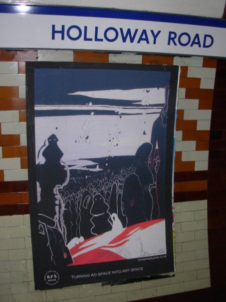 Art Below: Holloway Road tube station, London June 2007 Poster: detail of 'Come' 2003 'Art Below'